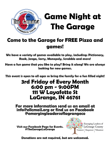 Game Night at the Garage